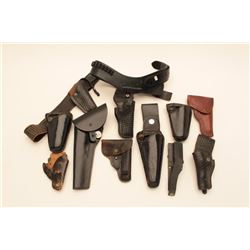 18KN-2 LOT OF LEATHER GEAR, HOLSTERS, SLINGS, ETC.
