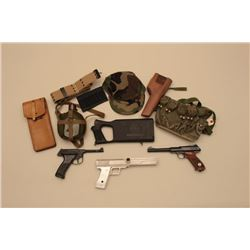 18KN-6 LOT OF MISC. MILITARY GEAR AND 2 BB GUNS