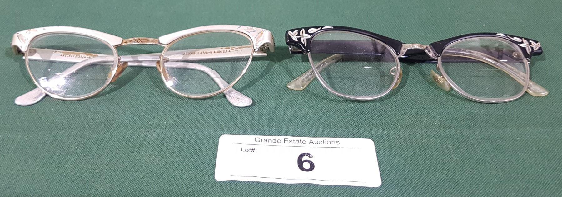 f7ae93d423d Image 1   2 PAIRS OF VINTAGE ART CRAFT LADIES CAT-EYE GLASSES