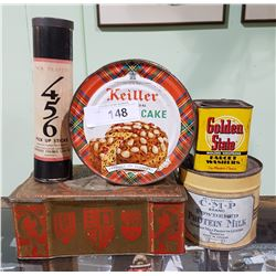 5 PC VINTAGE COLLECTIBLE TINS