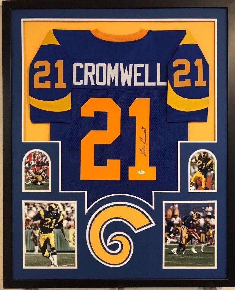 online store 9a3cd 66f66 Nolan Cromwell Signed Rams 34x42 Custom Framed Jersey ...