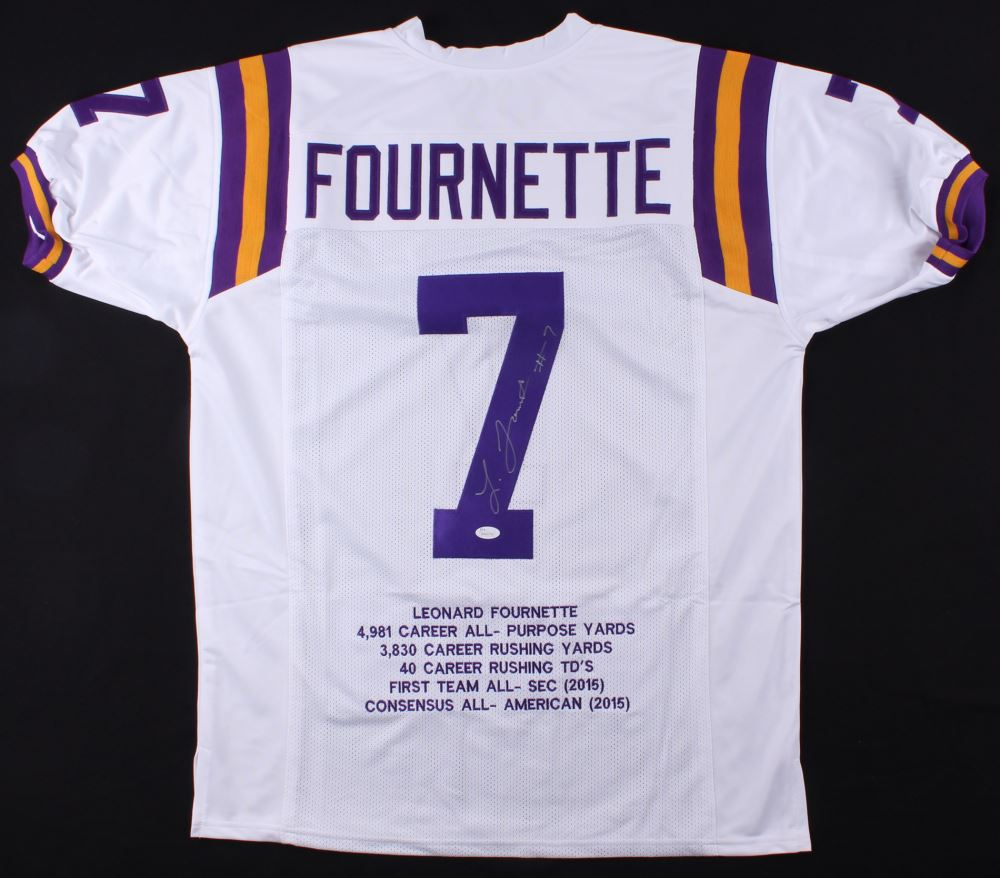 meet dcae2 88715 Leonard Fournette Signed LSU Tigers Career Highlight Stat ...