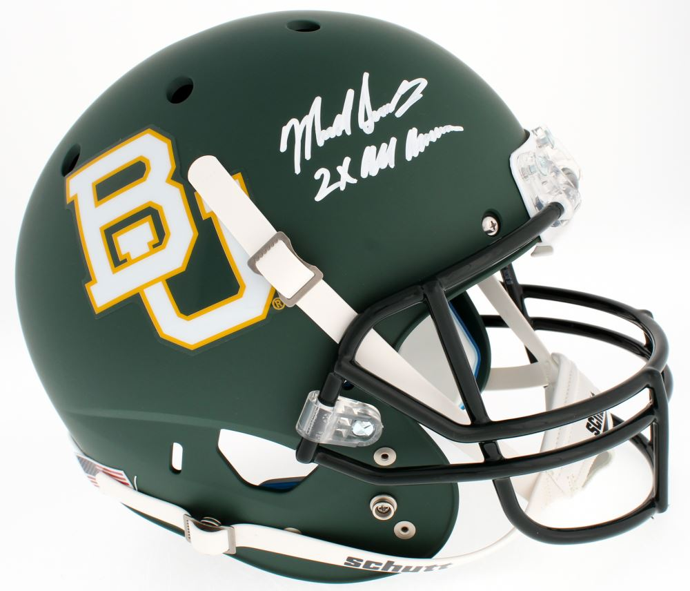 654c5b8a457 Image 1 : Mike Singletary Signed Baylor Bears Full-Size Helmet Inscribed