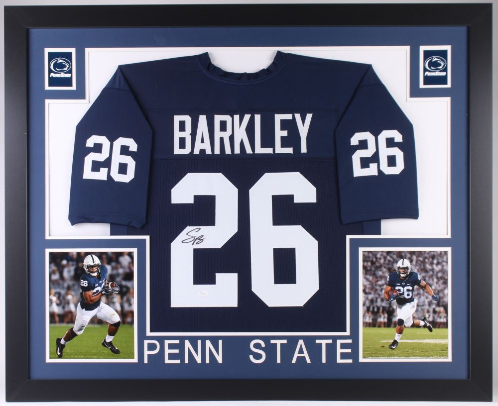 buy popular d7b52 75280 Saquon Barkley Signed Penn State Nittany Lions 35x43 ...