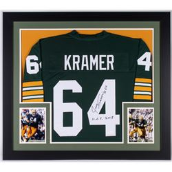 42ad93bae1b5e Jerry Kramer Signed Packers 31x35 Custom Framed Jersey Inscribed H.O.F 2018  (JSA Hologram)