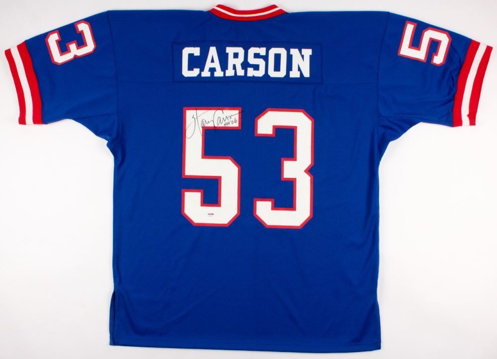 new concept 915b1 f7773 Harry Carson Signed Giants Throwback Jersey Inscribed ...