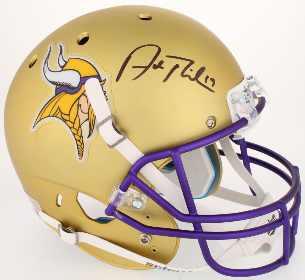 ebacc41c0e7 Image 1   Adam Thielen Signed Vikings Custom Satin Gold Full-Size Helmet  (JSA