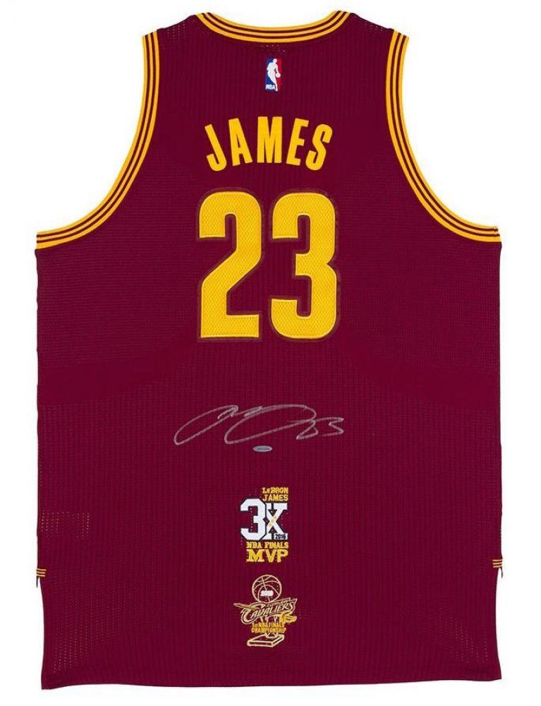 ff106f03312 LeBron James Signed Cavaliers Adidas