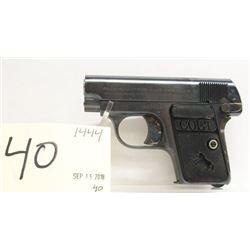 Colt Vest Pocket Hammerless Automatic Handgun