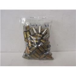 52 ROUNDS OF 38 S&W AND 33 BRASS PIECES