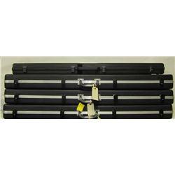 FOUR HARD PLASTIC GUN CASES