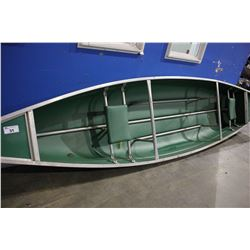 16 FT LONG GREEN CANOE