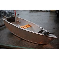 ALUMINUM WELDED BOAT WITH MINN KOTA ELECTRIC TROLLING MOTOR