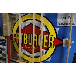 BRAND NEW APPROX. 8' FAT BURGER STORE FRONT SIGN