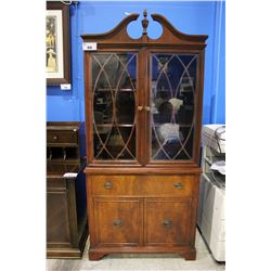 BEACH MAHOGANY CHINA CABINET