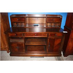 DARK WOOD CABINET WITH TOP