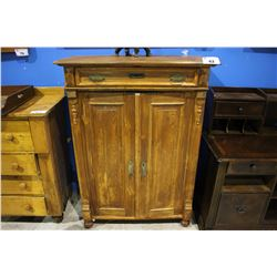 APPROX. 4' WOOD CABINET WITH TOP DRAWER