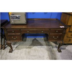 HEKMAN CARVED WOOD WRITING DESK