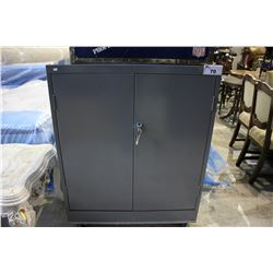 ULINE LOCKING METAL STORAGE CABINET