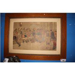 LARGE FRAMED ARTWORK - LOCKER ROOM JOCKEYS