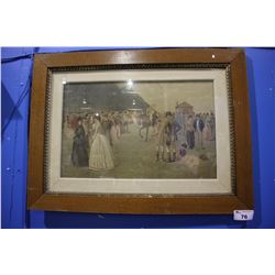 LARGE FRAMED ARTWORK - A DAY AT THE RACES