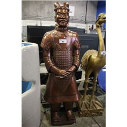 BRONZE COLOURED REPLICA TERRACOTTA ARMY STATUE