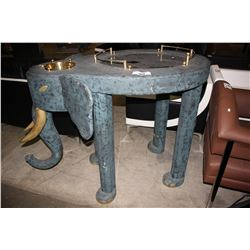 BLUE ELEPHANT BAR TABLE WITH ICE BUCKET
