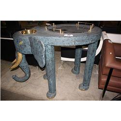 BLUE ELEPHANT BAR TABLE WITH ICE BUCKET