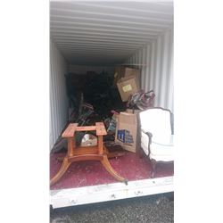 CONTENTS OF SHIPPING CONTAINER INCLUDING THEATRE SEATING AND ASSORTED FURNITURE -  $200 DEPOSIT