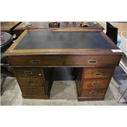 EXECUTIVE DESK WITH LOCKING DRAWERS