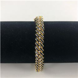 18 KT YELLOW GOLD LADIES DIAMOND BRACELET