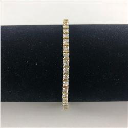 14 KT YELLOW GOLD LADIES DIAMOND TENNIS BRACELET