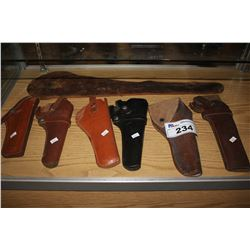 SIX ASSORTED GUN HOLSTERS