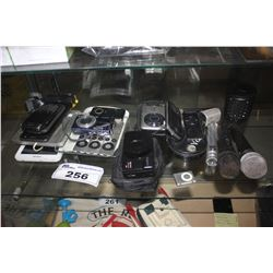 LOT INCLUDING ASSORTED DIGITAL CAMERAS, PHONES, AND MORE