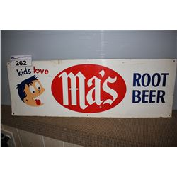 MA'S ROOT BEER METAL SIGN