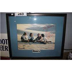 FRAMED  THE DOORS  PHOTOGRAPH SIGNED BY DIRECTOR OLIVER STONE
