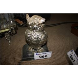 STERLING SILVER OVERLAY OWL