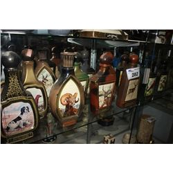 COLLECTION OF JIM BEAM JAMES LOCKHART WILDLIFE WHISKEY BOTTLES