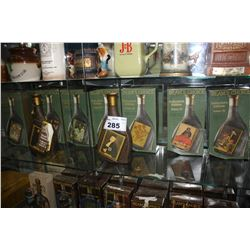 COLLECTION OF JIM BEAM MODERN MASTERS VINTAGE WHISKEY BOTTLES