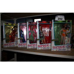 FIVE SPICE GIRLS COLLECTORS DOLLS