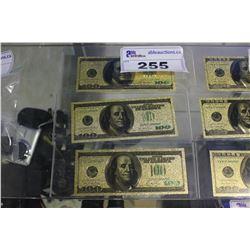 THREE $100 US NOVELTY COLLECTOR BILLS