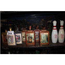 SHELF LOT OF ASSORTED JIM BEAM VINTAGE WHISKEY BOTTLES