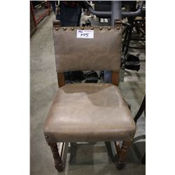 WOOD FRAMED CHERRY DISTRESSED RESTAURANT CHAIR