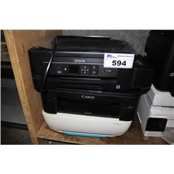 THREE PRINTERS INCLUDING EPSON, CANON AND HP