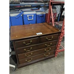 TWO DRAWER WOOD DRESSER