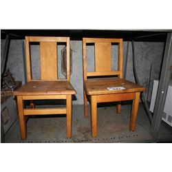 TWO WOOD CHILDREN'S CHAIRS