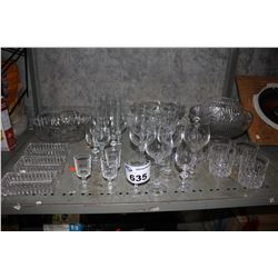 SHELF OF CRYSTALWARE