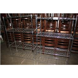 TWO METAL WINE RACKS