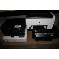 FOUR PRINTERS INCLUDING EPSON, HP AND CANON