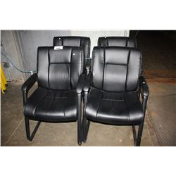 FOUR PADDED OFFICE CHAIRS